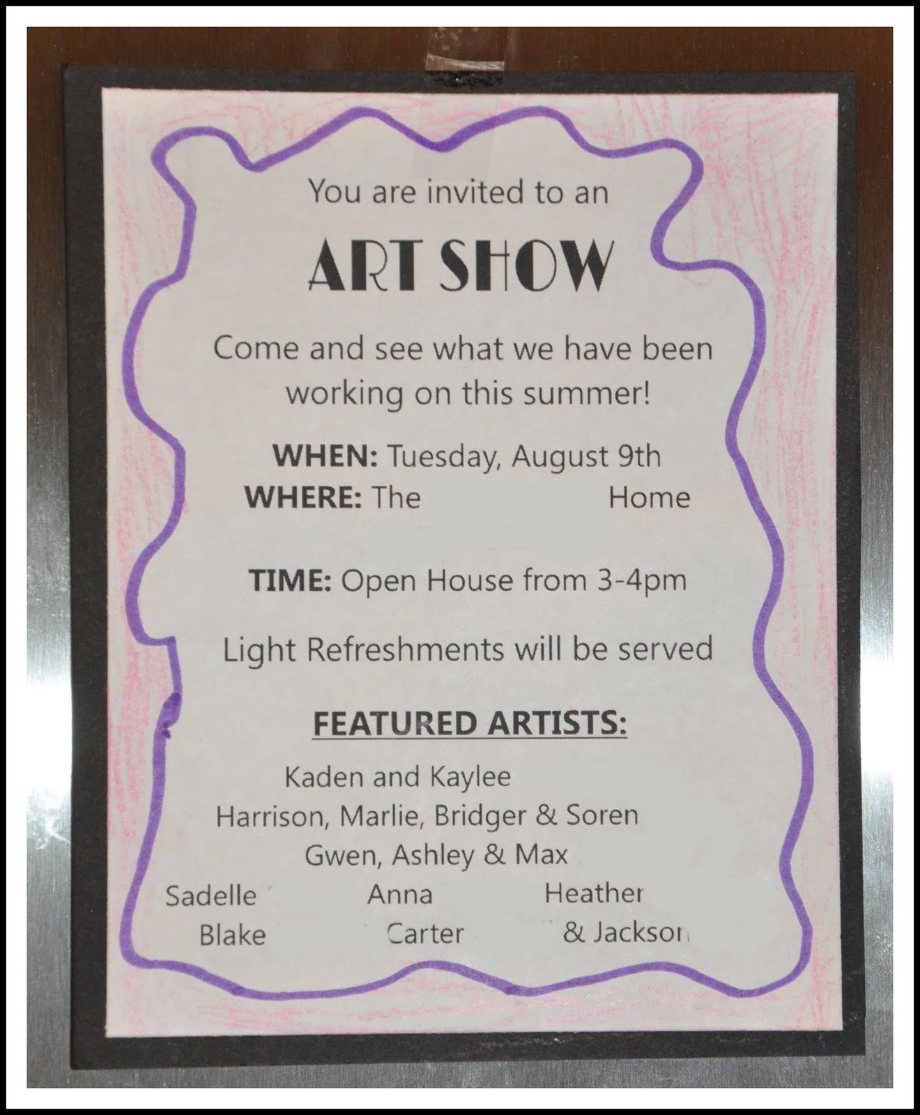 Homemaking Fun: Summer Art Classes and Show