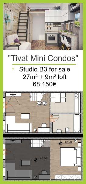 Studio for Sale in Tivat 68.150€