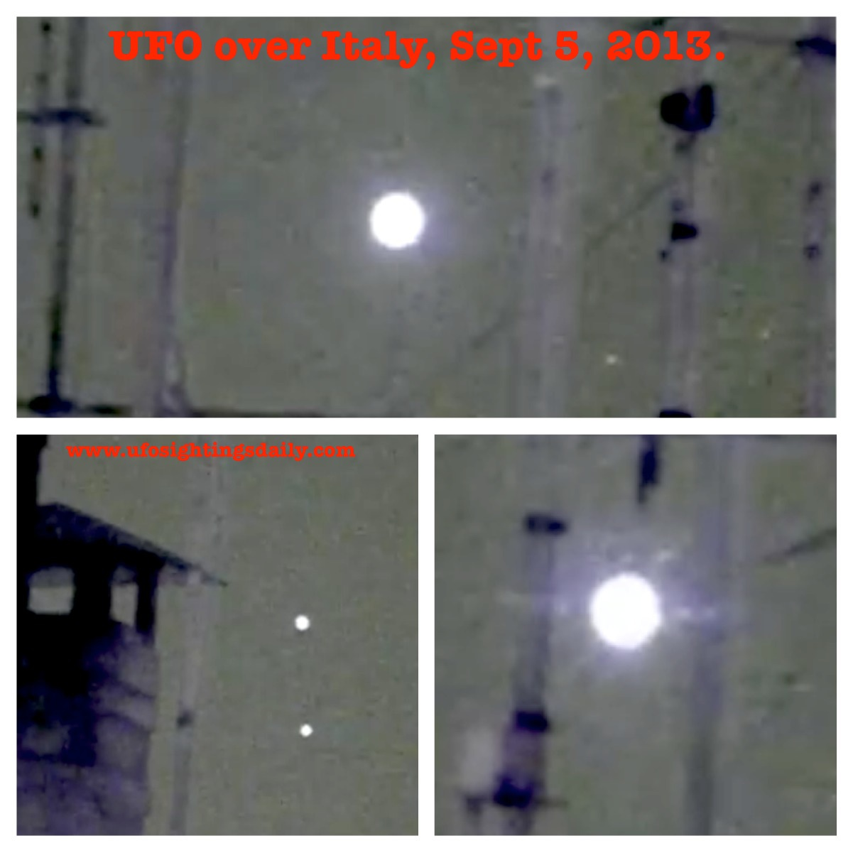 UFO SIGHTINGS DAILY: UFO Recorded Over Rome, Italy On Sept ... Ufo 2013