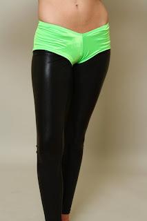 green neon booty short