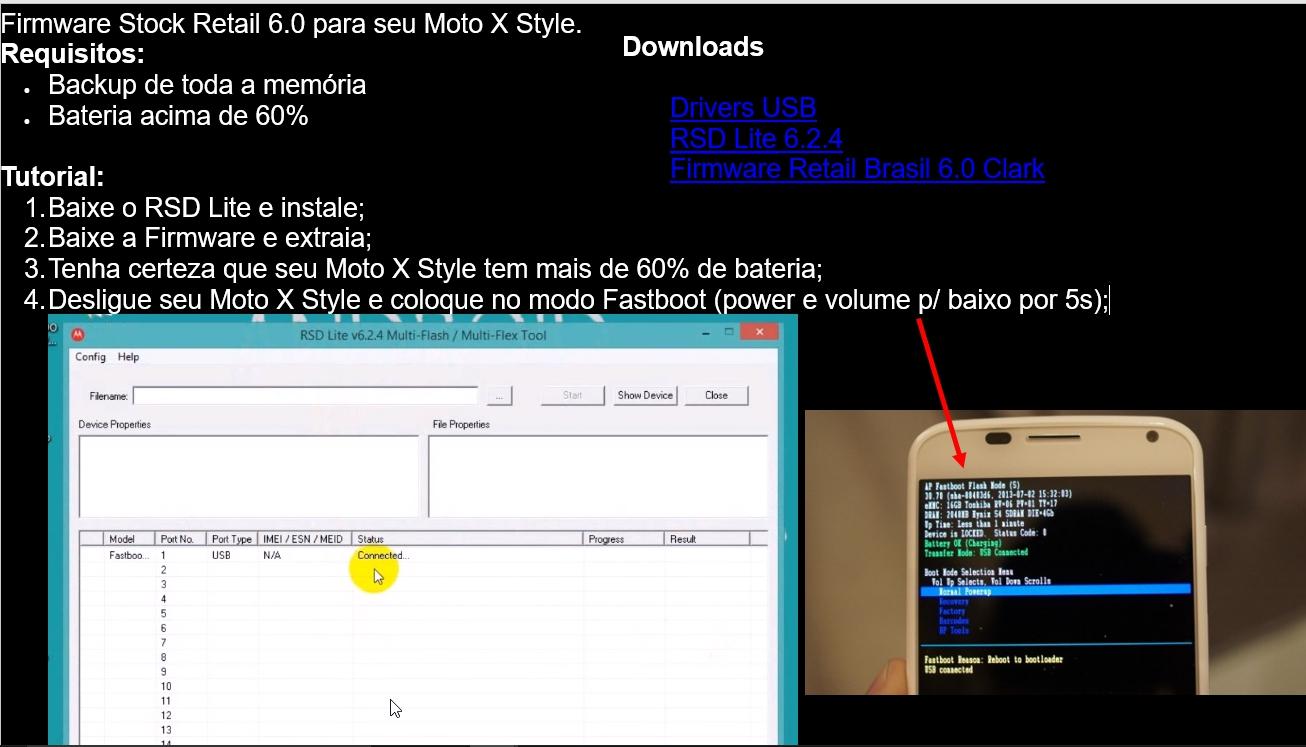 how to use rsd lite moto e