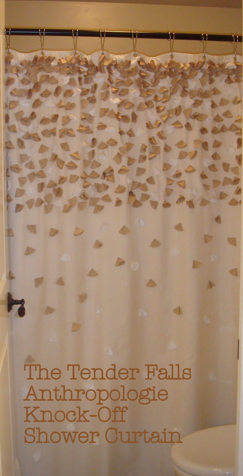 see kayla go.: DIY Tender Falls Anthropologie Shower Curtain.