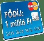 1 millió Ft-os bankkártya