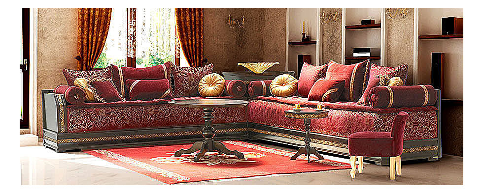 D coration maroc salon maghribi traditionnel for Salon maghribi