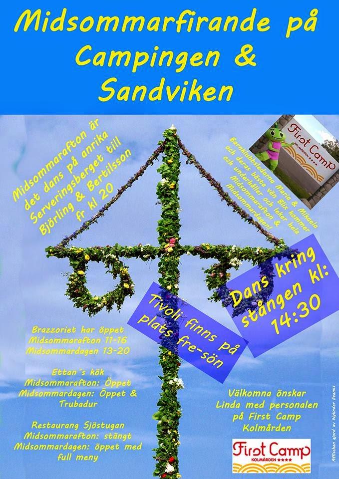 Midsommarfirande på campingen & Sandviken