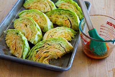 Roasted Cabbage with Lime and Sriracha found on KalynsKitchen.com