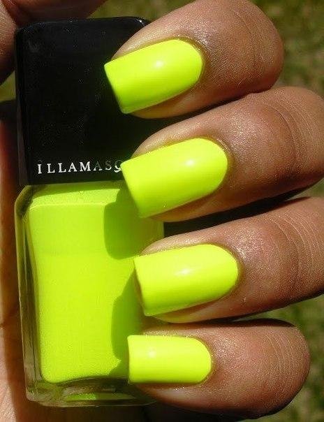 Лимонный цвет ногти