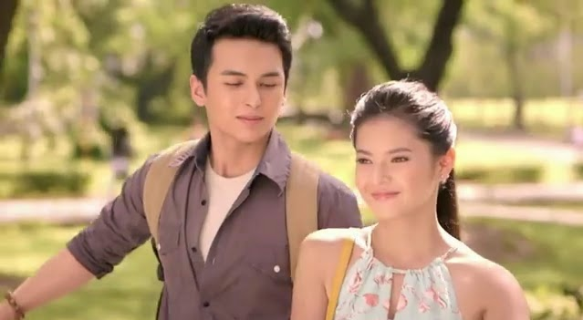Teejay Marquez and Bianca Umali for Ellips Cologne TVC