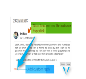 Remove Hyperlink Comment Threaded From Blogger and Wordpress