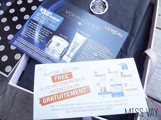 Glossybox canada mars march 2013 samples échantillons review