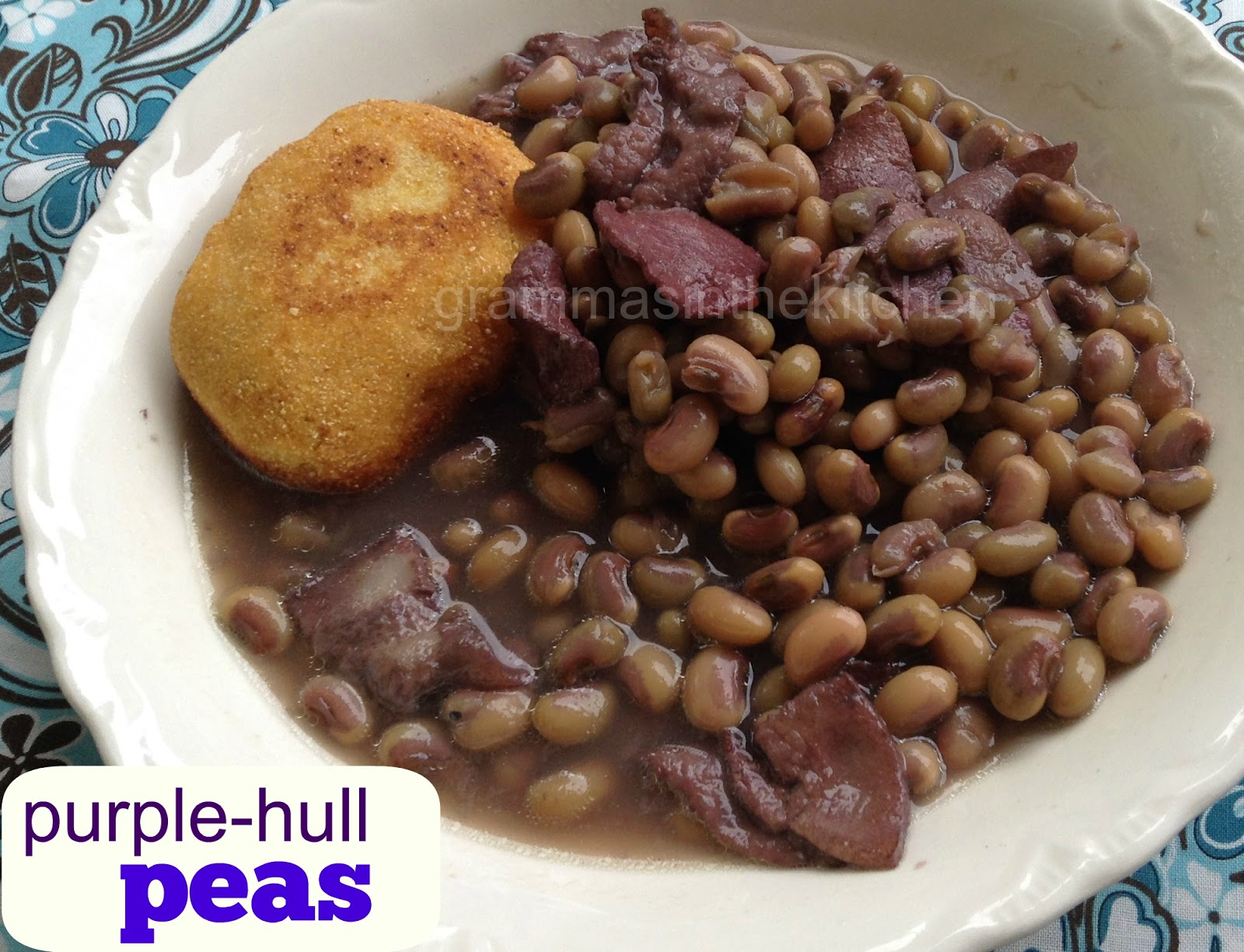 Gramma s in the kitchen purple hull peas