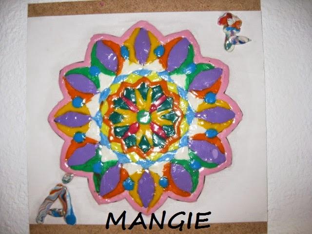 Mandala en plastilina