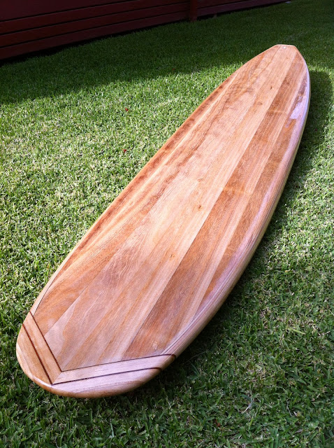 wood surfboard