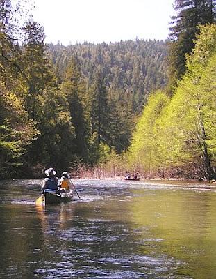 Navarro River canoeing