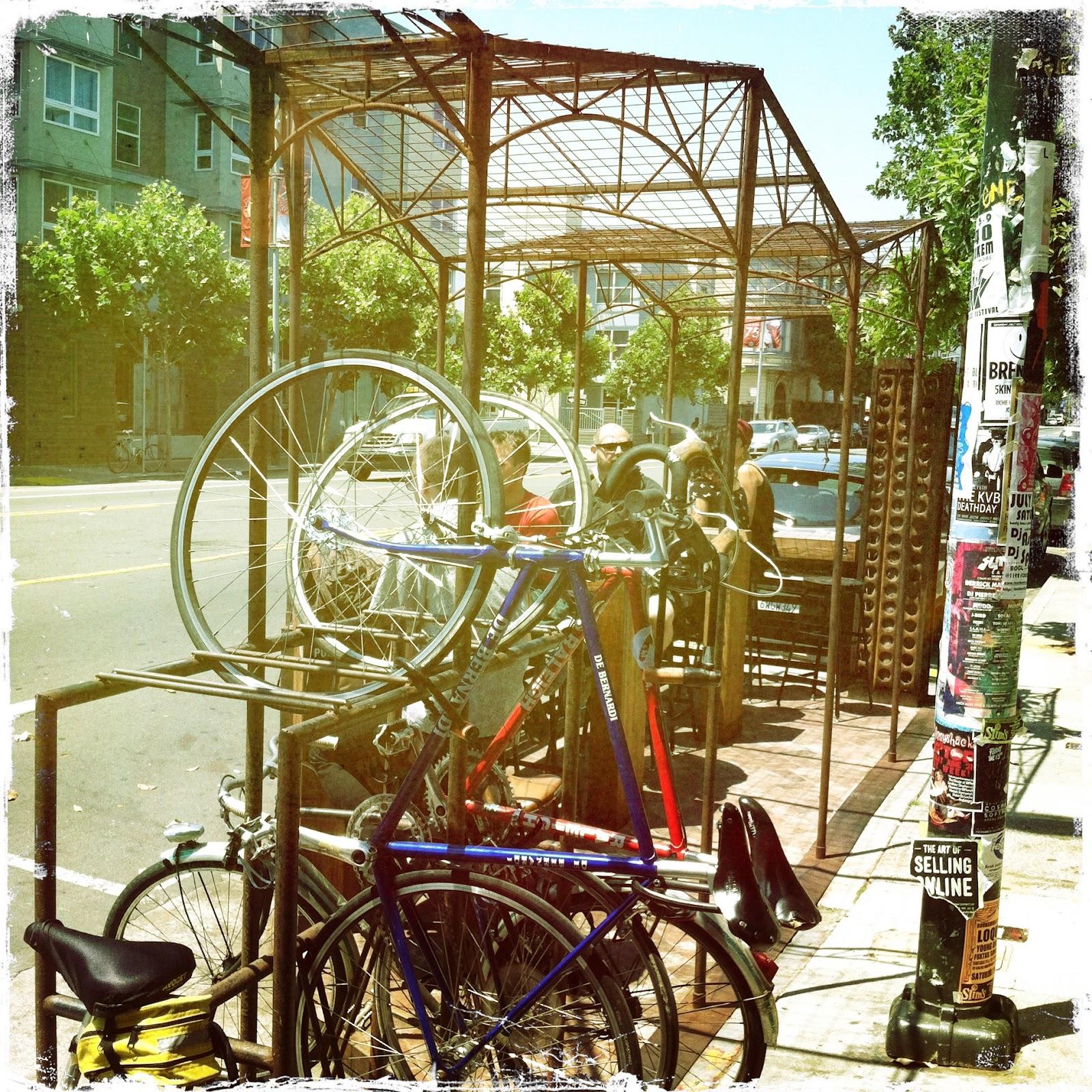 Oakland Streets: Bike Rack Art
