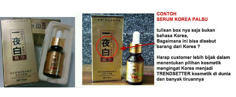 contoh produk palsu china yang mengatasnamakan korea