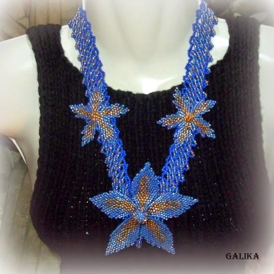 blue flowers jewelry set