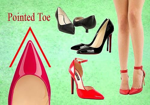 Bagian Depan Sepatu Wanita, Pointed Toe