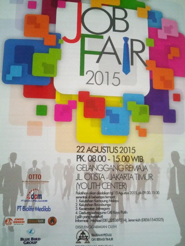 Kami kembali hadir di JobFair KAMI PEDULI, GOR JAKARTA TIMUR, 22 Agustus 2015