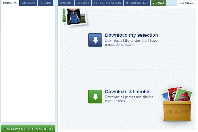 Download Photos from Facebook Album with PicknZip