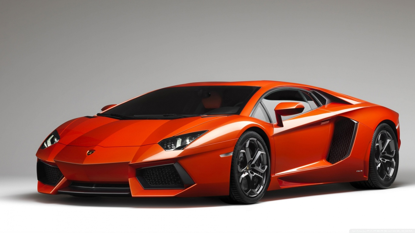 Orange Lamborghini Aventador Wallpaper