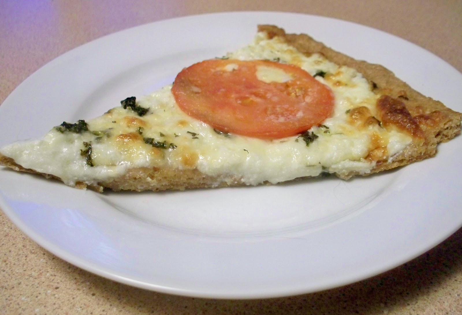 Fit and Lovin' it: White Pizza with Whole Wheat Crust