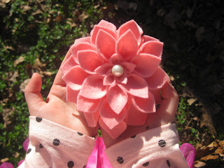 Carnation Pink 100% Wool Felt Dahlia Flower Pin From TheSpeckledKat on etsy
