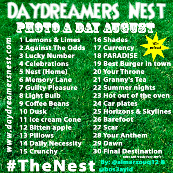 August Photo A Day Challenge Daydreamer's Nest Instagram Twitter