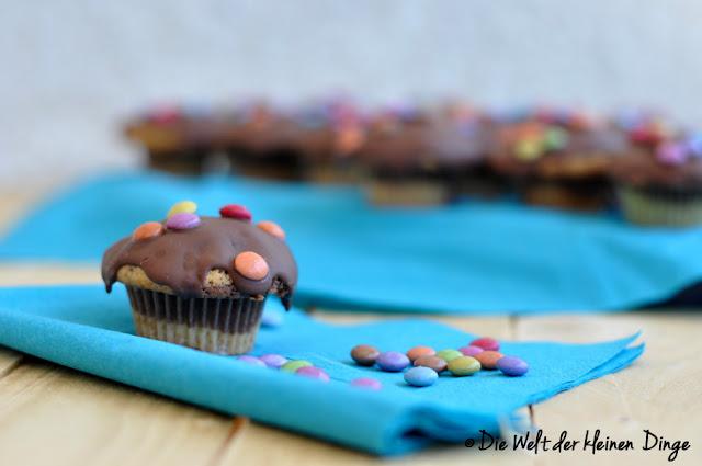 Mini-Muffins, Marmor, Marmorkuchen, Smarties, Kinder, Kinderfest