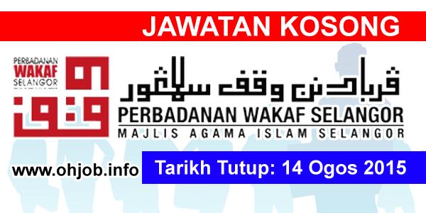 Jawatan Kerja Kosong Perbadanan Wakaf Selangor logo www.ohjob.info ogos 2015