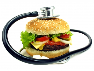 "Image ""Cheeseburger And Stethoscope"" courtesy of Grant Cochrane at www.freedigitalphotos.net"
