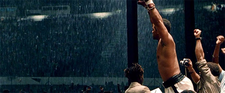 Will Smith celebrates at the end of Michael Mann's Ali.