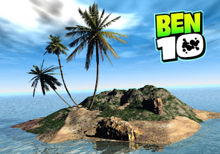 Ben 10 desktop Posters Wallpapers Teen Heroes Logo in 3D Island background