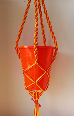 Macrame Hanging Organization from Hands On Crafts For Kids.