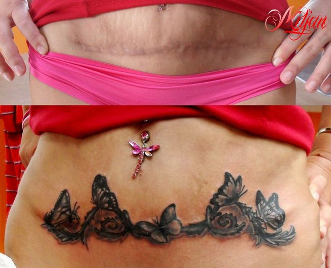 Fotos de tatuajes en la barriga de mujeres 97