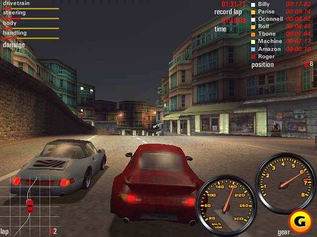 The Top Ten Video Games with Cars