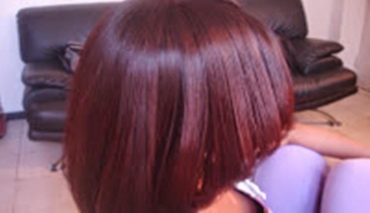 cabello listo despues de la keratina