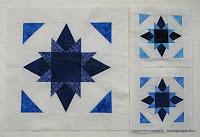 free Twinkle Stars quilt block pattern made with batik fabrics