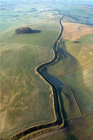 Wansdyke - from the air