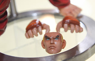 Square Enix Play Arts 2013 Toy Fair Display - Street Fighter Ken figure