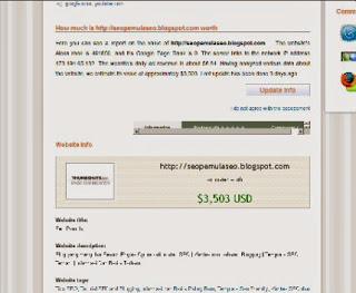 cara mengetahui harga jual blog kita