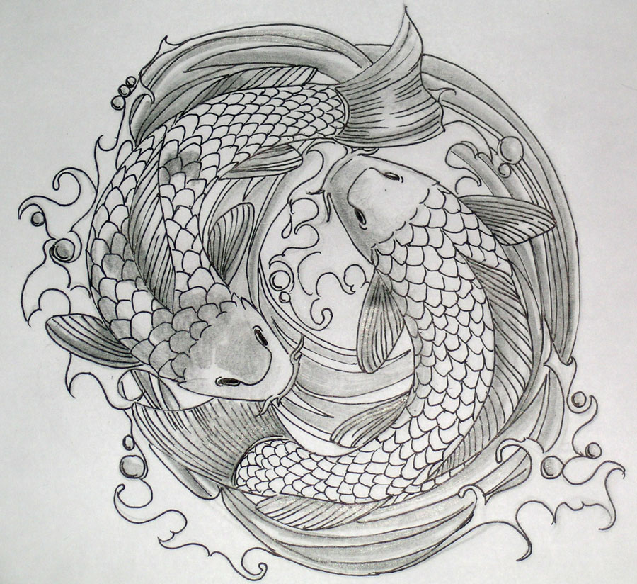 Zodiac tattoo designs there is only here koi fish tattoo for Koi fish drawings
