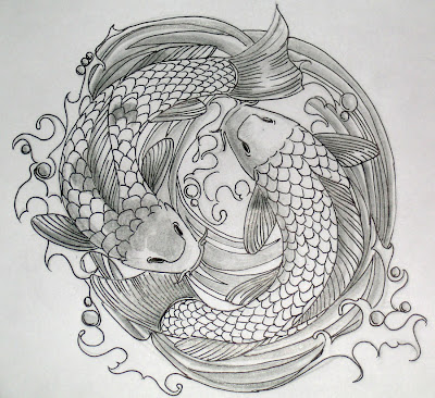 Koi Fish Tattoo Designs Sketch Collection 8