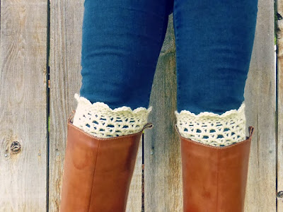 free crochet pattern lacy boot cuffs