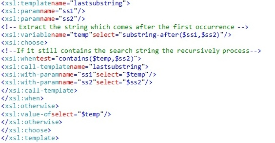 Get last substring with specific decimeter and store in variable ...