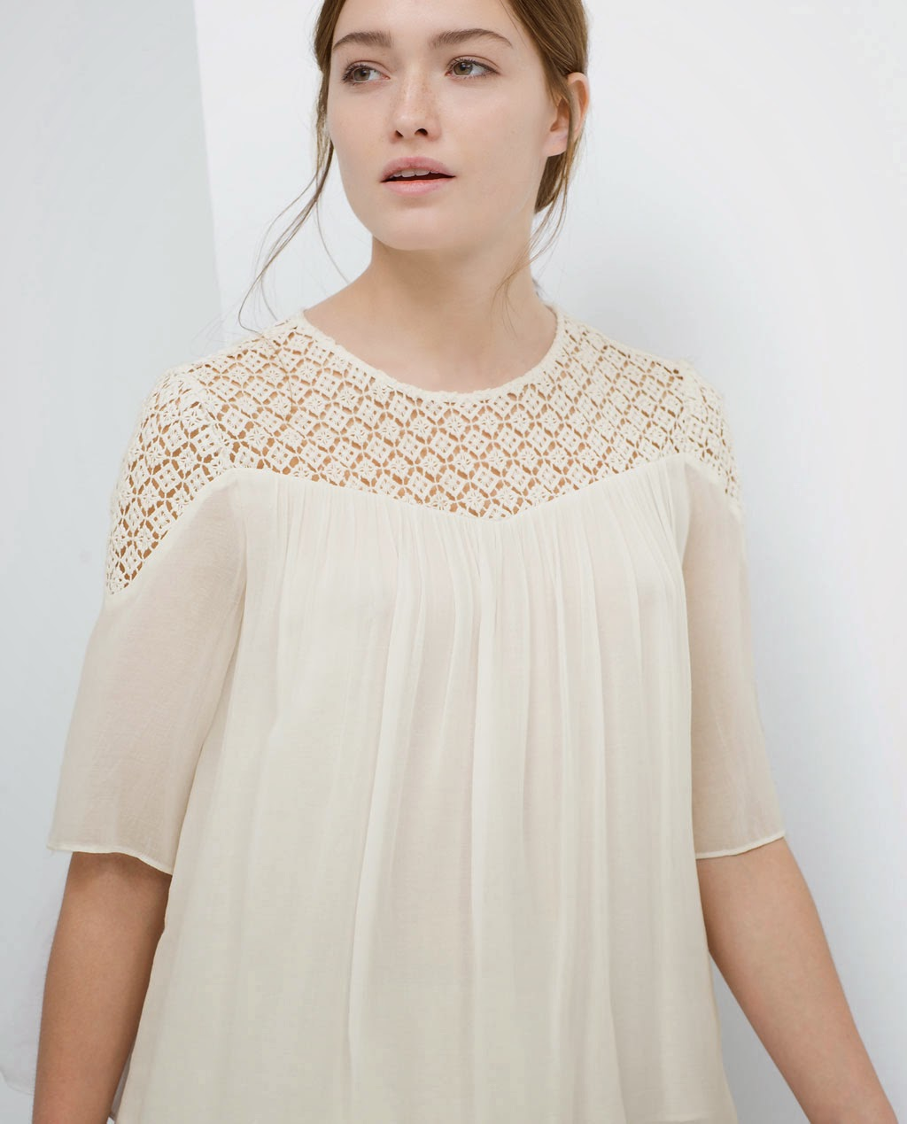 Zara Blouse With Transparent Details 106