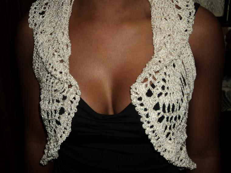 Colete de Crochet em linha de seda