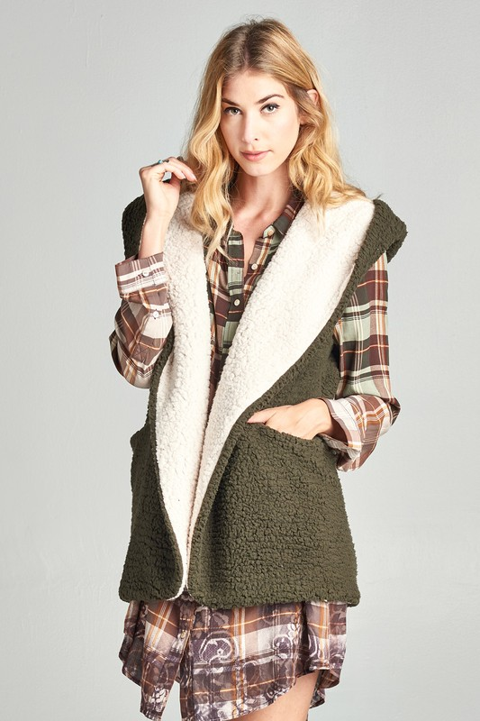 Fluffy Fleece Vests