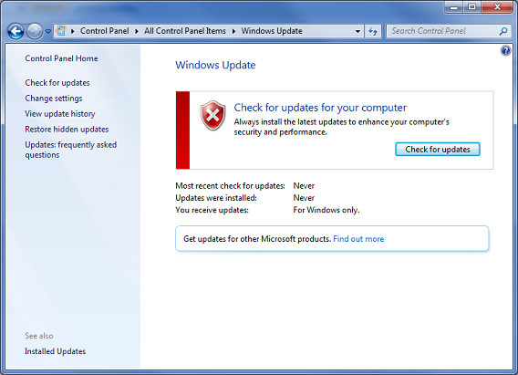 how to manually install failed updates in windows 7