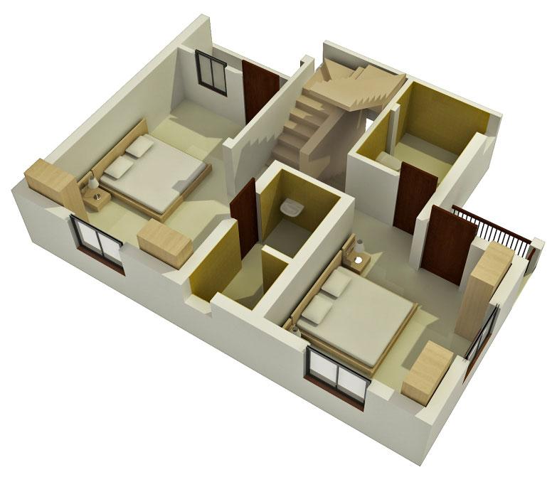 3d Duplex Building